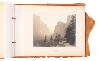 Yosemite Valley] Album with fifteen gelatin silver prints of Yosemite Valley, circa 1903. JULIUS...
