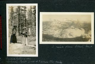 [Yosemite National Park] An album of photographs recording a vacation in Yosemite National Park, circa 1915 or later.