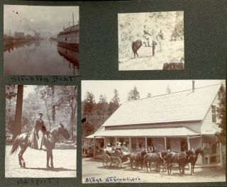 [Yosemite National Park] An album of photographs recording a vacation in Yosemite National Park in 1901, a mixture of professional photographs, many by George Fiske, and photographs taken by the visitors.
