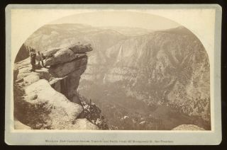 Yosemite Valley] Yosemite Valley from Glacier Point. Albumen print. CARLETON E. WATKINS