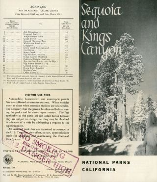 Sequoia and Kings Canyon National Parks [cover title]. UNITED STATES. DEPARTMENT OF THE INTERIOR....