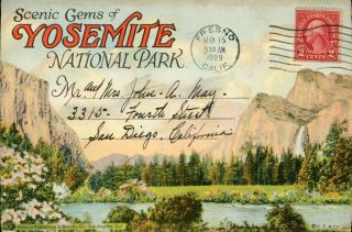 Scenic gems of Yosemite National Park ... [folder title]. WESTERN PUBLISHING AND NOVELTY COMPANY