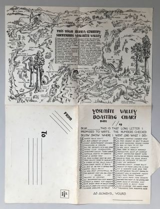 The Valley, Yosemite National Park. A Willy Nilly Map.