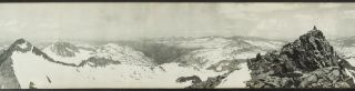 [Yosemite High Sierra] Panorama of the Yosemite High Sierra from Mt. Lyell [title supplied].