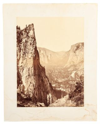 Yosemite Valley] Down the valley, from Union Point. CARLETON E. WATKINS
