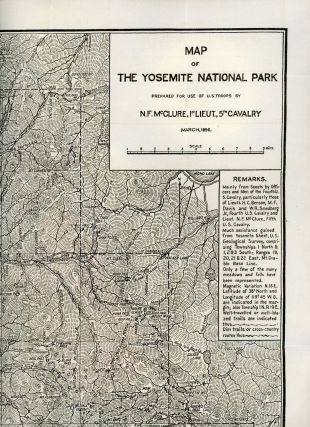 Map of the Yosemite National Park prepared for use of U. S. troops by N. F. McClure, 1st Lieut.,...