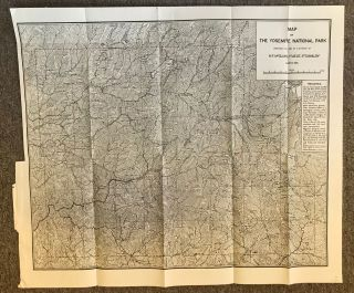 Map of the Yosemite National Park prepared for use of U. S. troops by N. F. McClure, 1st Lieut., 5th Cavalry March, 1896.