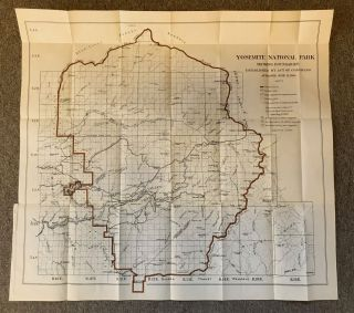 Yosemite National Park showing boundaries established by Act of Congress approved June 11, 1906 ... Recommended in Report of Yosemite Park Commission dated Aug. 31, 1904 ... Scale, 1 inch 2 miles.
