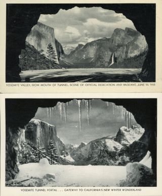 Yosemite Valley from mouth of tunnel, scene of official dedication and pageant, June 10, 1933...