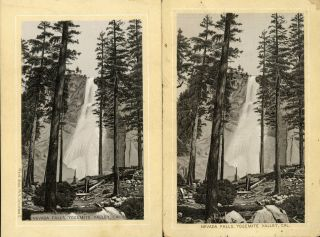 Nevada Falls, Yosemite Valley, Cal. [caption title]. Advertising cards, DAYTON SPICE MILLS CO