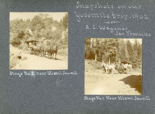 Yosemite Valley] Snapshots on our Yosemite trip, 1902. A. C. Wagener, San Francisco [Album...