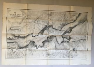 Map of the Yosemite Valley from surveys made by order of the Commissioners to Manage the Yosemite...