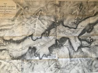 Map of the Yosemite Valley from surveys made by order of the Commissioners to Manage the Yosemite Valley and Mariposa Big Tree Grove by C. King and J. T. Gardner 1865. Drawn by J. T. G.