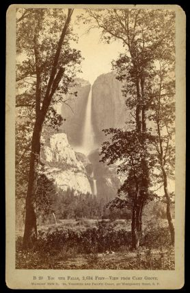 Yosemite Valley] Yosemite Falls, 2,634 Feet -- View from Camp Grove. Albumen print. CARLETON E....