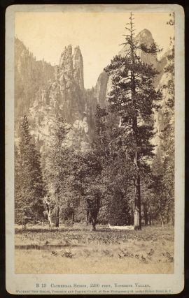 Yosemite Valley] Cathedral Spires, 2200 feet, Yosemite Valley. Albumen print. CARLETON E. WATKINS