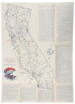 California landmarks and auto road map ... [panel title].