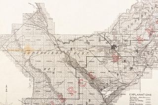 """THE COUNTY OF CALIFORNIA"" FRESNO COUNTY, CAL. THE LARGEST IRRIGATION DISTRICT IN THE UNITED STATES. WHERE EVERYTHING KNOWN TO THE AGRICULTURAL WORLD GROWS IN ABUNDANCE. WHERE WATER COSTS BUT 62 1/2 CENTS PER ACRE PER YEAR ... Pierce & Anderson, 1152 J. Street, Fresno, Cal. ..."
