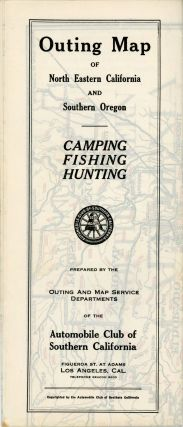 Outing map of north eastern California and southern Oregon[.] Camping fishing hunting[.] Prepared...