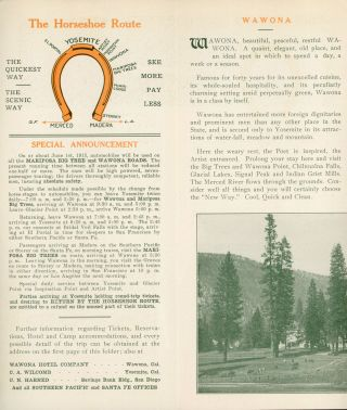 Yosemite Mariposa Big Trees the new way ... Literature, reservations and tickets of Peck-Judah Company 687 Market Street, San Francisco. 623 South Spring Street, Los Angeles [cover title].