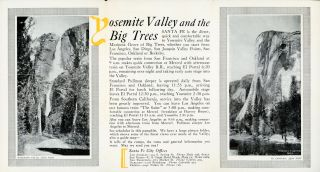 Yosemite Valley[.] Santa Fe [cover title].
