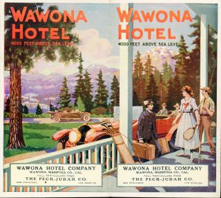 Wawona Hotel 4000 feet above sea level[.] Wawona Hotel Company[.] Wawona, Mariposa Co., Cal. Full...