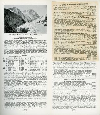 Yosemite all-year-round National Park California Y T S tours Tioga Pass route Yosemite Transportation System Yosemite National Park Company 1922 [cover title].