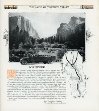 Yosemite National Park California open all year 1926 Yosemite Transportation System [cover title].