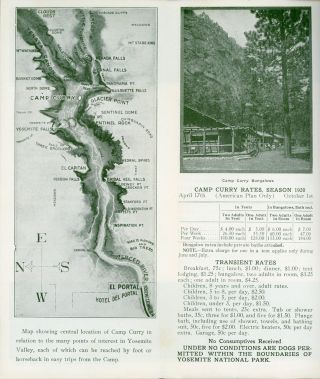 Yosemite National Park Camp Curry the best equipped camp on earth 1920 season -- April 17th to October 1st ... [cover title].