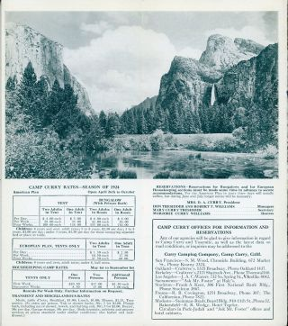 Yosemite Camp Curry 1924 where the fire falls [cover title].