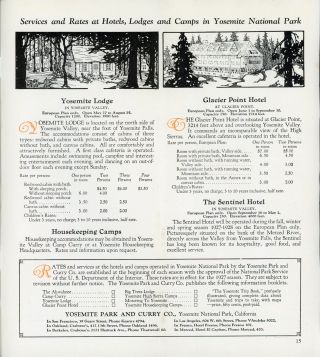 Yosemite and the Mariposa Big Trees[.] Yosemite Transportation System operated by Yosemite Park and Curry Co. [cover title].