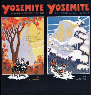 Yosemite California's all-year playland in spring in summer [in autumn in winter] [cover title].
