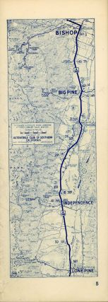 "Road maps[.] Los Angeles, Calif. to Reno, Nevada via Bishop, California[.] Mileage via Bishop and Bridgeport 471[.] Bishop and Fallon 565[.] Automobile Club of Southern California ""the friend to all motorists since 1900"" 63 949 [cover title]."