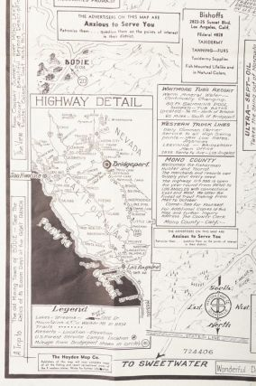 Town of Bridgeport, Mono County, California ... Map compiled and published by Hayden Map Co. ... © 1940.