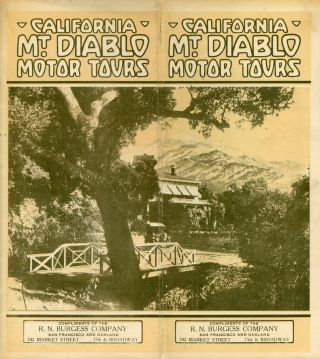 CALIFORNIA MT. DIABLO MOTOR TOURS ... [cover title]. California, Contra Costa County, Mount Diablo