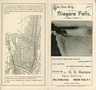 THE NEW CITY OF NIAGARA FALLS, NEW YORK ... ISSUED BY C. C. CONROY, REAL ESTATE, OFFICE 39 MAIN...