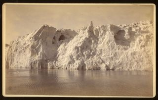 FACE OF MUIR GLACIER, FROM STEAMER. No. 5034. Albumen print. Frank Jay Haynes