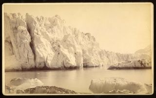 FACE OF MUIR GLACIER, FROM THE TOP. No. 5038. Albumen print. Frank Jay Haynes