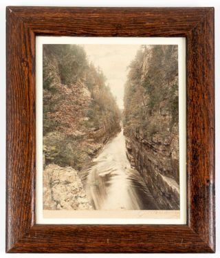 Ausable Chasm, near Keesville, New York. Gelatin silver print. Adirondacks, George W. Baldwin