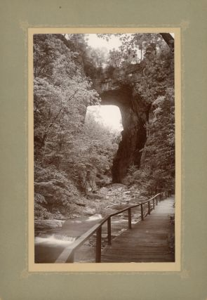 NATURAL BRIDGE OF VIRGINIA. Albumen print. Natural Bridge of Virginia, Shenandoah Valley