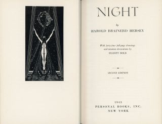NIGHT ... With forty-four full-page drawings and nineteen decorations by Elliott Dold. Second...