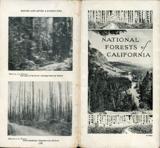 National Forests of California [cover title]. UNITED STATES. DEPARTMENT OF AGRICULTURE. FOREST...