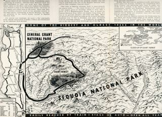 Sequoia National Park and General Grant National Park[.] Biggest trees in the world [cover title].