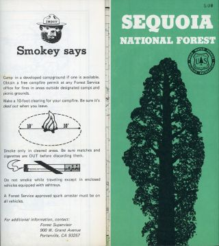 Sequoia National Forest[.] U. S. Department of Agriculture Forest Service California Region...