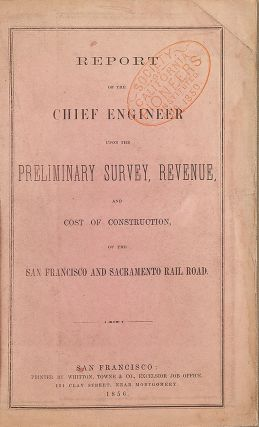 REPORT OF THE CHIEF ENGINEER UPON THE PRELIMINARY SURVEY, REVENUE, AND COST OF CONSTRUCTION, OF...