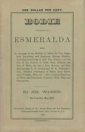 BODIE AND ESMERALDA BEING AN ACCOUNT OF THE REVIVAL OF AFFAIRS IN TWO SINGULARLY INTERESTING AND...
