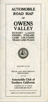 Automobile road map of Owens Valley resort - lakes fishing streams camp locations trails and...