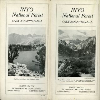 Inyo National Forest California -- Nevada ... United States Department of Agriculture Forest...