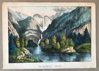 Yo-semite Falls. California. CURRIER, IVES