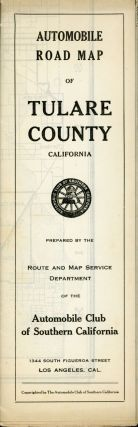 Automobile road map of Tulare County California[.] Prepared by the Route and Map Service...
