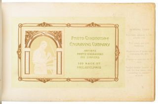 THE ART OF EMBOSSING. THE PHOTO-CHROMOTYPE ENGRAVING CO. PHILADELPHIA, PA [cover title].
